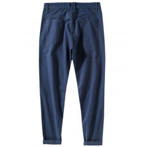 Narrow Feet Zipper Fly Casual Pants -