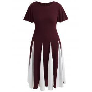 Plus Size Two Tone Flare Dress -