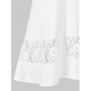 Lace Insert Tunic Top -