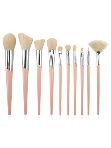 New Professional 10Pcs Ultra Soft Fiber Hair Travel Cosmetic Brush Kit