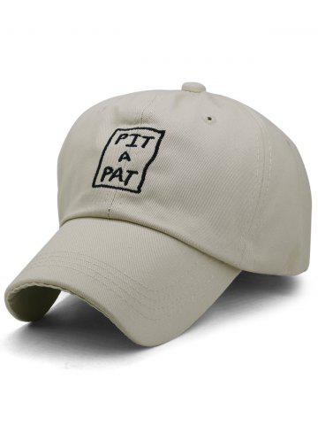 PIT A PAT Embroidery Adjustable Graphic Hat