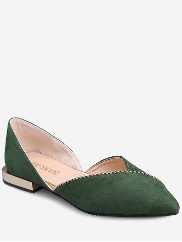 Shop Pointed Toe Slip On Flat Heel Shoes