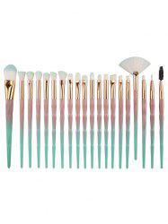 Unique 20Pcs Evolving Color Handle Fiber Hair Eye Makeup Brush Kit -