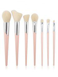 7Pcs Fiber Hair  Blush Eyeshadow Eyebrow Cosmetic Brush Set -