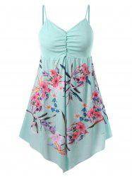 Plus Size Floral Slip Tank Top -