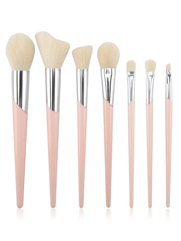 Latest 7Pcs Fiber Hair  Blush Eyeshadow Eyebrow Cosmetic Brush Set