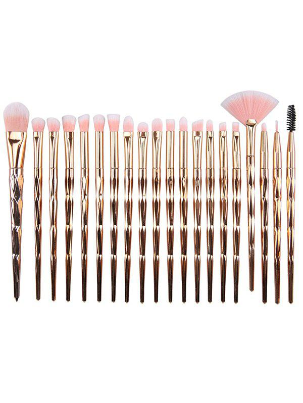 Unique Unique 20Pcs Evolving Color Handle Fiber Hair Eye Makeup Brush Kit