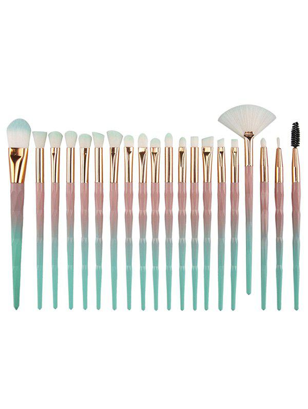 Sale Unique 20Pcs Evolving Color Handle Fiber Hair Eye Makeup Brush Kit