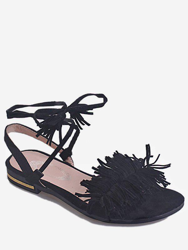 Discount Flat Heel Ankle Wrapped Sandals