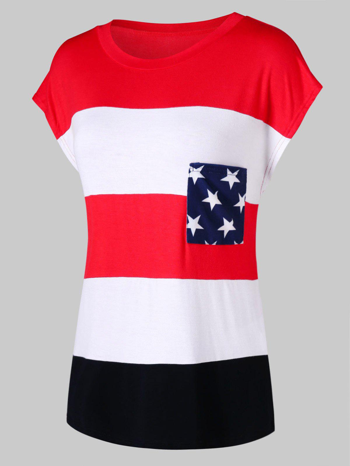 Outfits Pocket American Flag Tee