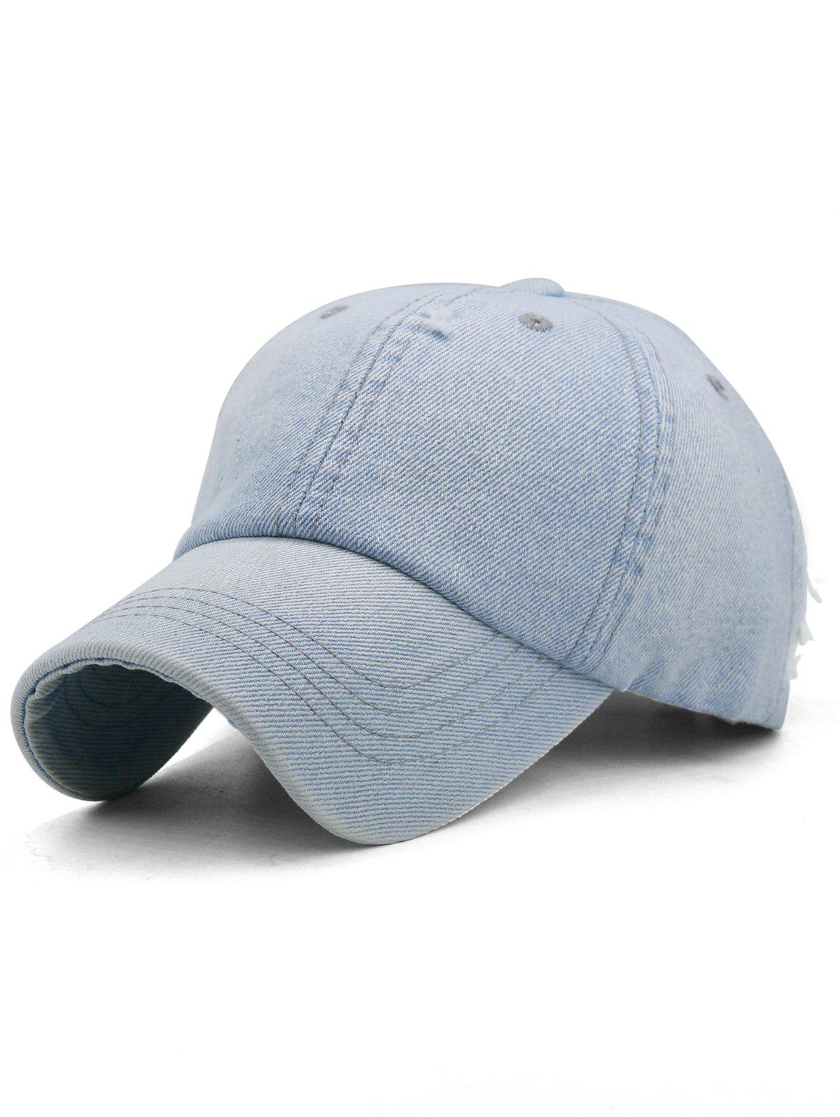 Best Outdoor Solid Color Washed Dyed Denim Baseball Hat