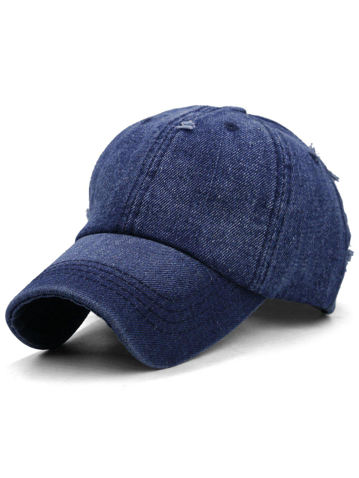 Buy Outdoor Solid Color Washed Dyed Denim Baseball Hat