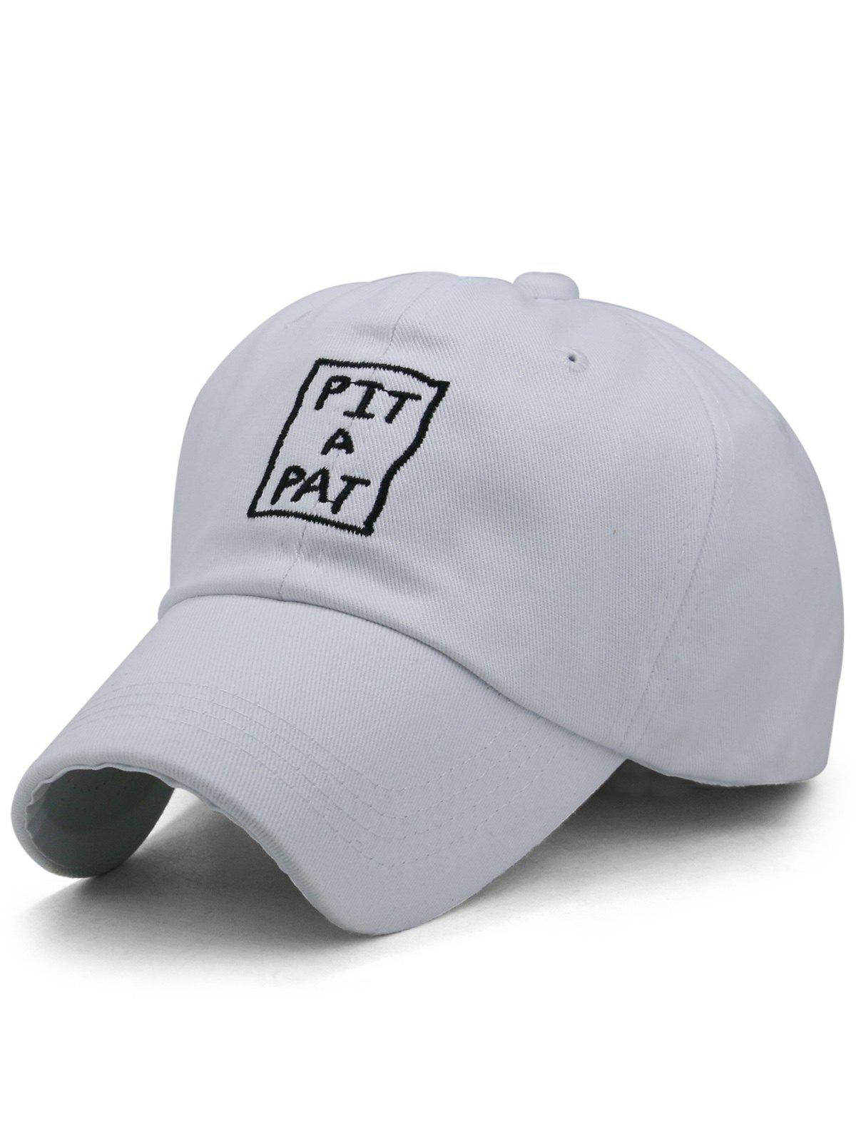Fashion PIT A PAT Embroidery Adjustable Graphic Hat