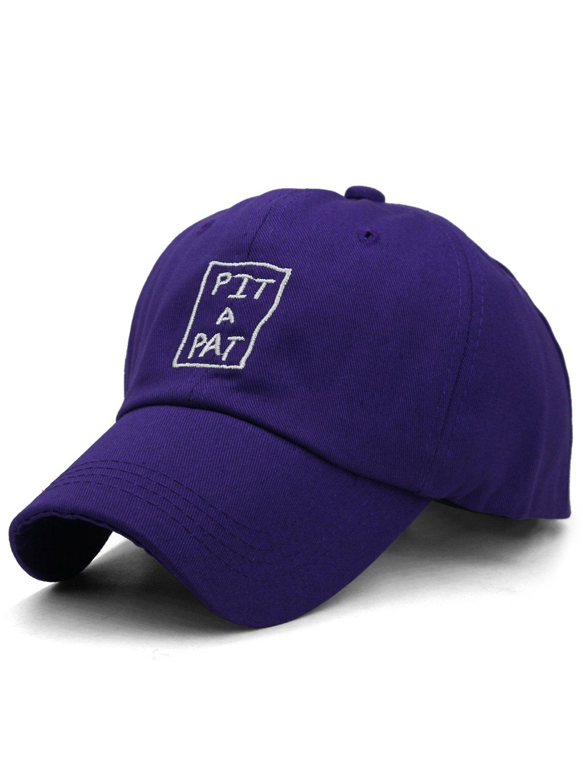 Online PIT A PAT Embroidery Adjustable Graphic Hat