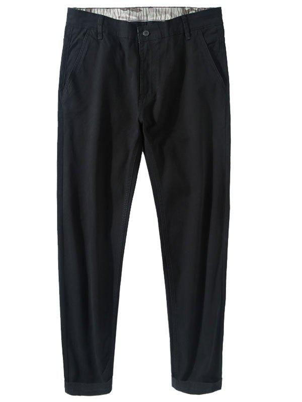 New Narrow Feet Zipper Fly Casual Pants