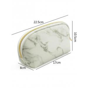 Portable Marble Pattern Zipper Cosmetic Storage Bag -