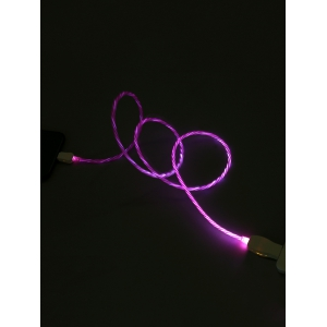 Flowing LED Glow USB Charging iPhone Data Cable -