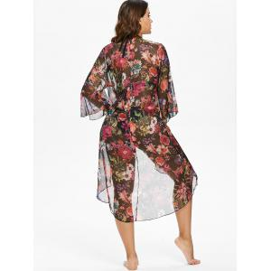 Tropical Floral Kimono Cover Up -