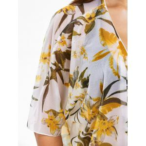 Floral Batwing Sleeve Kimono Cover Up -