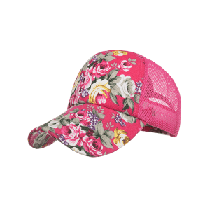 Blooming Floral Decorative Mesh Sun Hat -