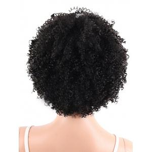 Short Full Bang Fluffy Afro Curly Synthetic Wig -