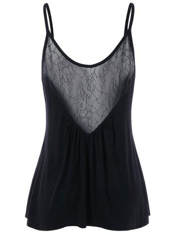 Trendy Lace Insert Back Camisole