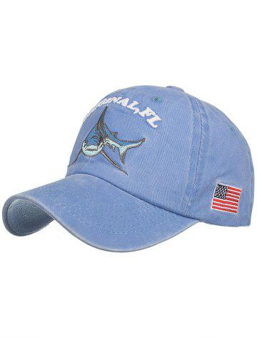 Best Shark Embroidery Adjustable Sunscreen Hat
