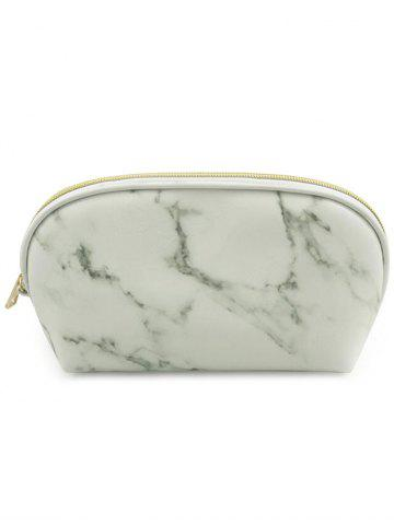 Fashion Portable Marble Pattern Zipper Cosmetic Storage Bag