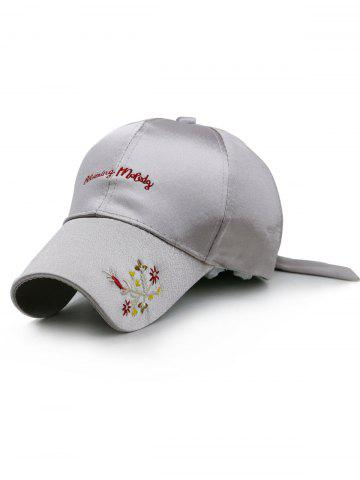 Hot Floral Embroidery Long Band Baseball Hat