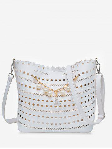 Shops Hollow Out Scallop Rhinestone 2 Pieces Crossbody Bag Set
