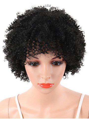 Outfit Short Full Bang Fluffy Afro Curly Synthetic Wig