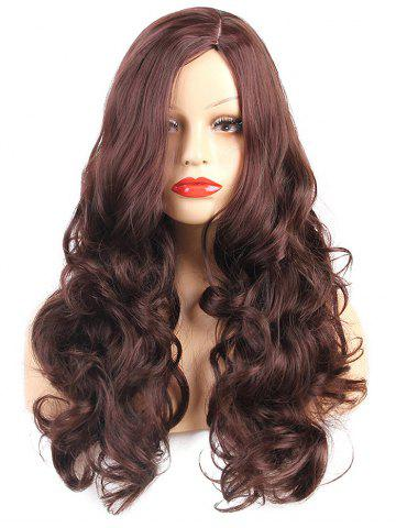 Online Long Side Parting Body Wave Synthetic Wig