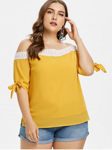 Discount Plus Size Knotted Cami Top