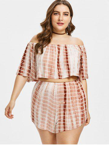 Outfits Plus Size Tie Dye Top and Shorts Set