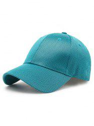 Solid Color Breathable Mesh Baseball Cap -