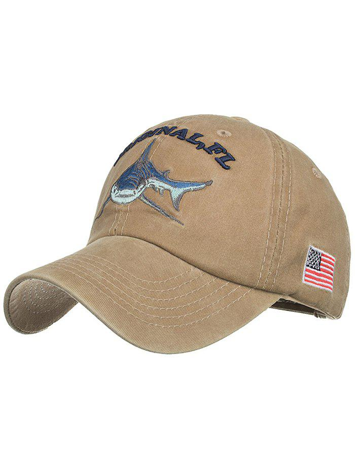 Latest Shark Embroidery Adjustable Sunscreen Hat