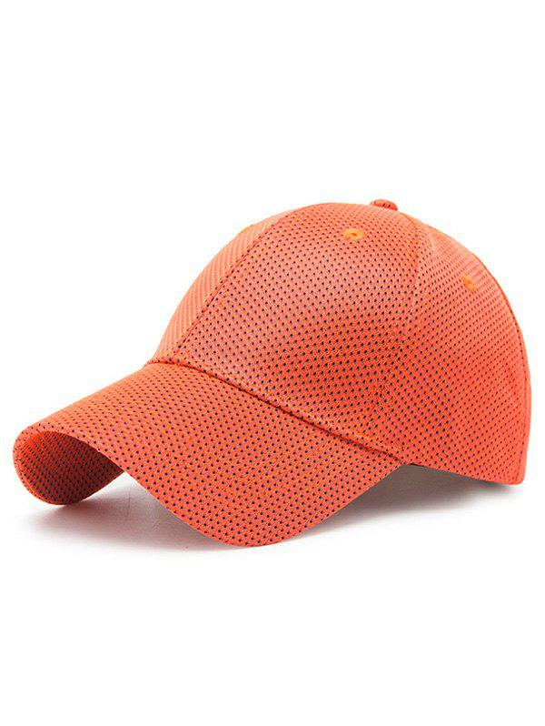 Discount Solid Color Breathable Mesh Baseball Cap