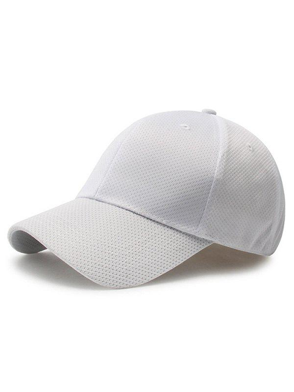Buy Solid Color Breathable Mesh Baseball Cap