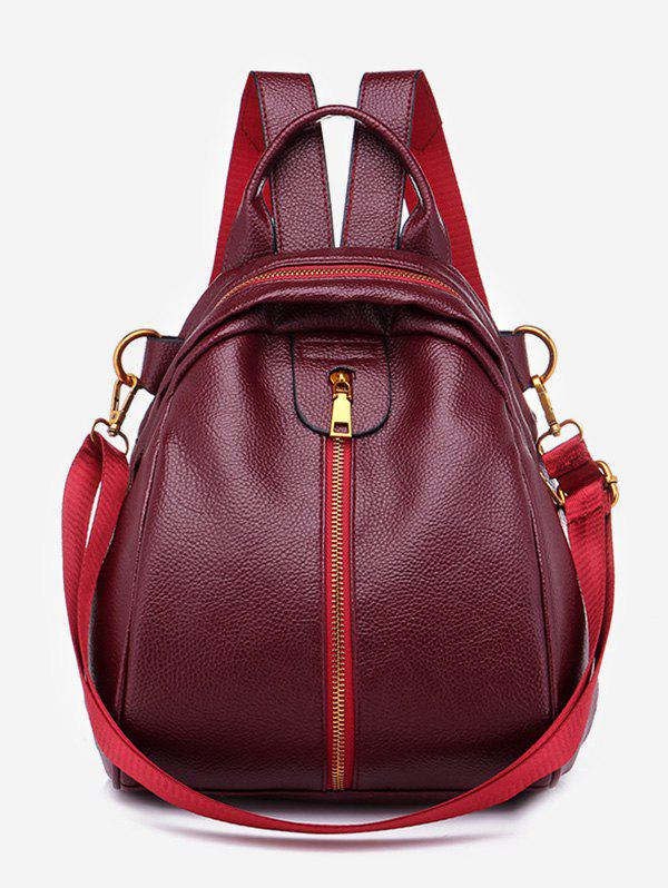 Unique Faux Leather Chic Minimalist Backpack with Strap
