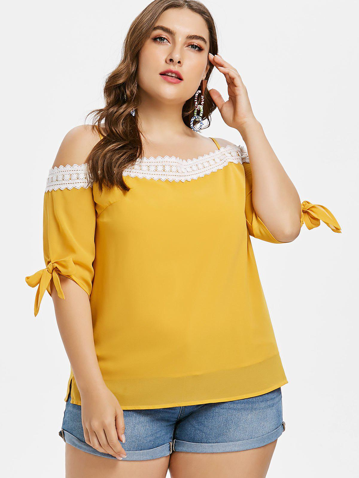 Fashion Plus Size Knotted Cami Top