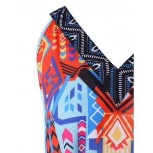 Plus Size Tribal Print Crescent Hem Tank Top -
