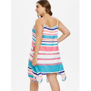 Plus Size Striped Handkerchief Dress -
