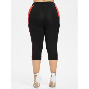 Leggings Capri à empiècements contrastés en dentelle -