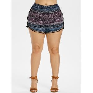 Плюс Размер Pompoms Tassel Shorts -