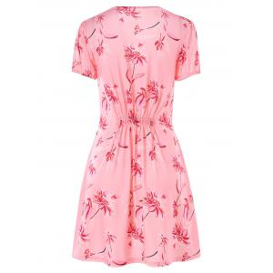 Short Sleeve Casual Floral Dress -