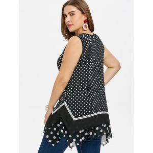 Plus Size Polka Dot Handkerchief Tank Top -