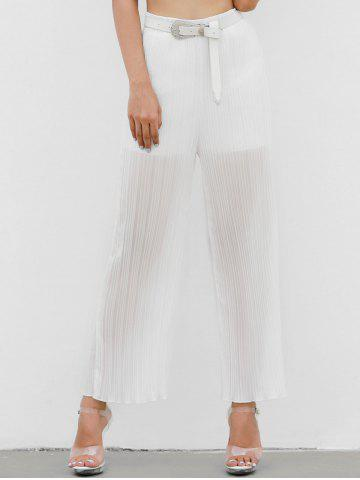 Unique Pleated High Waisted Pants