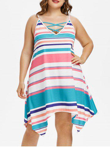 Best Plus Size Striped Handkerchief Dress