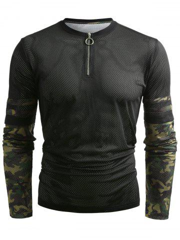 Shops Hollow Out Camouflage Pattern T-shirt