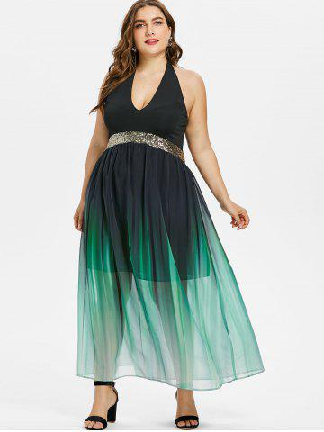 ea5319f1e0 Ombre Halter Dress - Free Shipping, Discount And Cheap Sale | Rosegal